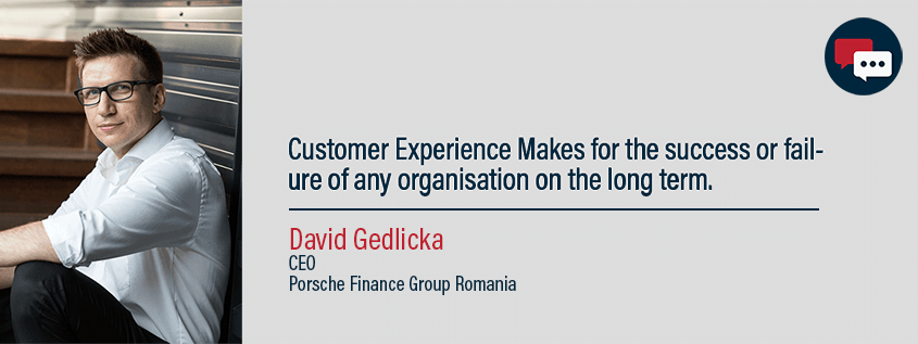 David Gedlicka, CEO porsche finance group, Romania. Presenting his thoughts on customer service and a leaders role in improving it.