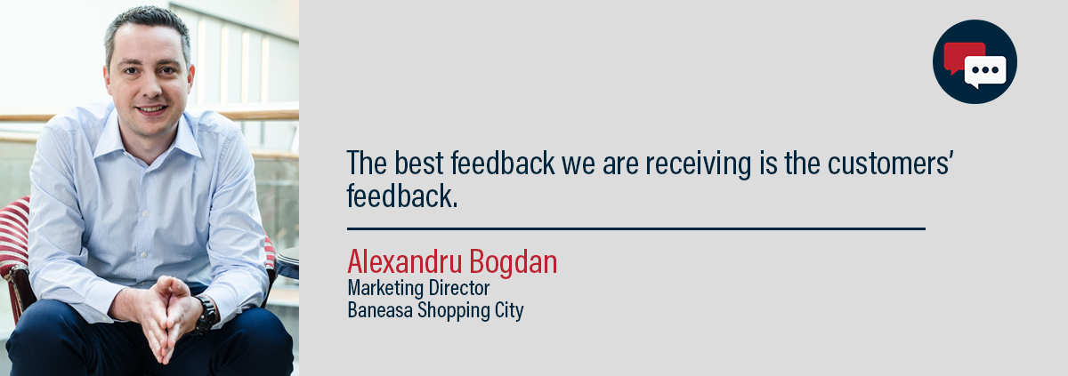 Alexandru bogdan, marketing director, baneasa shopping city, bucharest romania, presenting his thoughts on customer service.