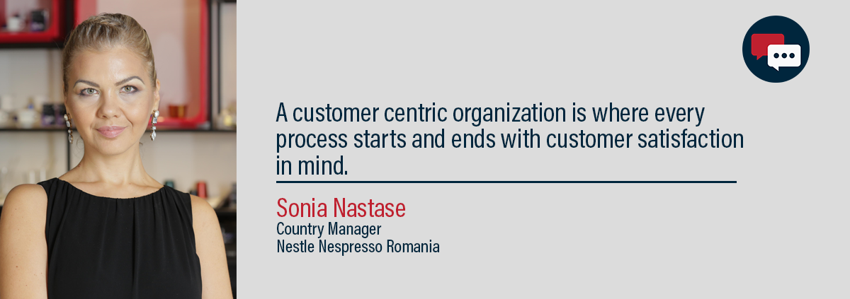 Sonia Nastase, country manager, nestle nespresso romania. Presenting her thoughts on customer service.